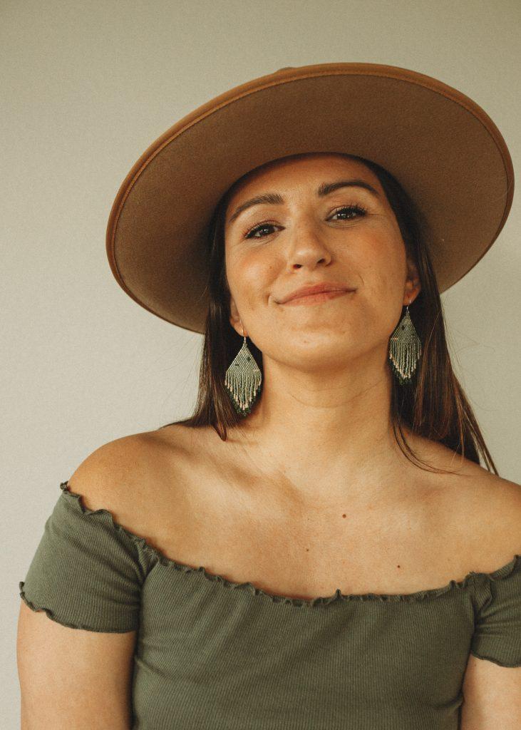 Mountain Gypsy Co seed bead earrings. Handmade in Central Oregon.